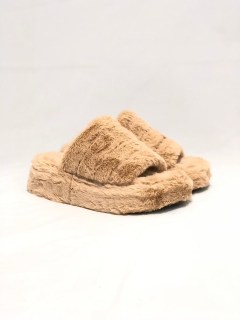 High Slippers Fluffy Caramelo FIRE - comprar online