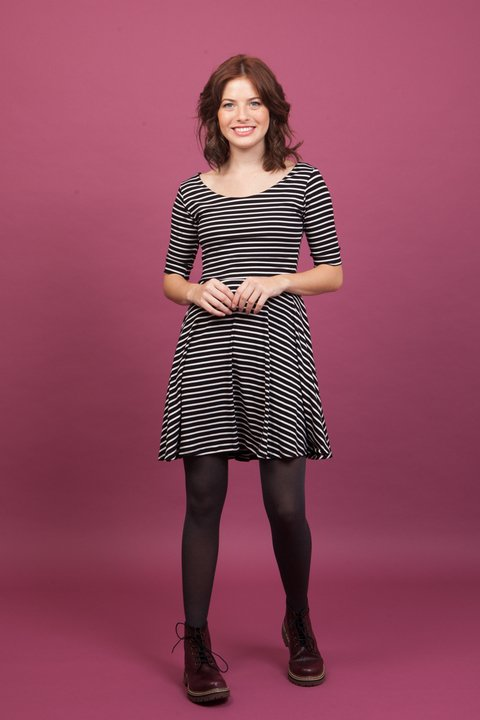 Vestido Stripes negro en internet
