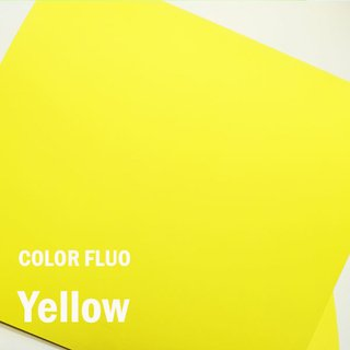 Papel Color Fluo Yellow  - Tam. A4 - 180g/m² - 20 folhas