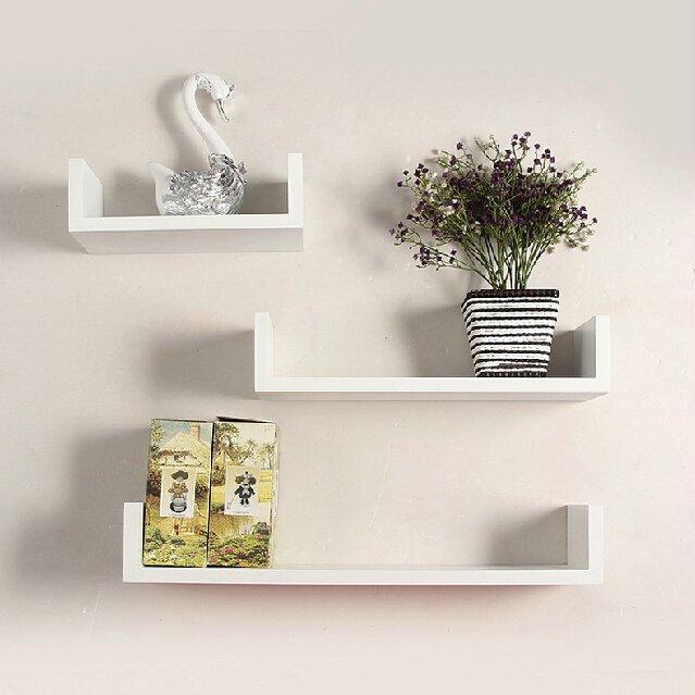 Prateleiras para Quarto Nayan Mix Decorativa Moderna mdf 15mm branco 3 peças