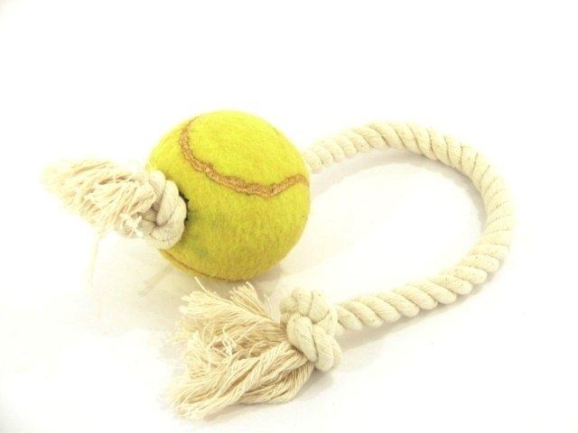 Pelota de tenis con soga de hilo larga 5f000b616d755