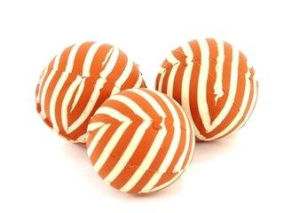 Pack x 3 pelotas de goma rayadas chicas  81 e55b904d89322