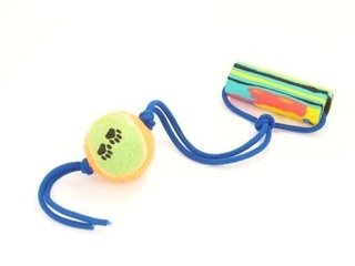 Tirador con soga elástica de color y pelota de tenis 05aff401c68be