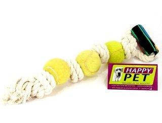 Lazo gigante de soga con 3 pelotas de tenis y nudos d88f0eb6dbc56