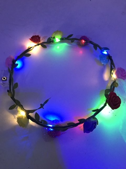 VINCHA TIARA MULTICOLOR LED