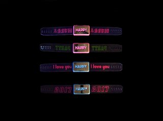 PULSERA BRAZALETE HAPPY LED