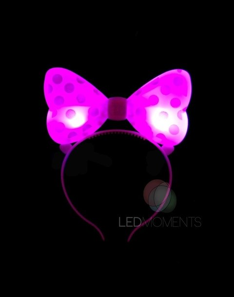 VINCHA MINNIE PLASTICA LED
