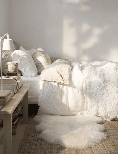 Alfombra cabrito de corderito blanca cuero de oveja natural - Alfombra oveja ...