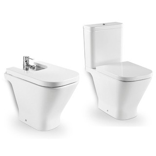 Inodoro largo deposito bidet the gap roca for Inodoro bidet precios