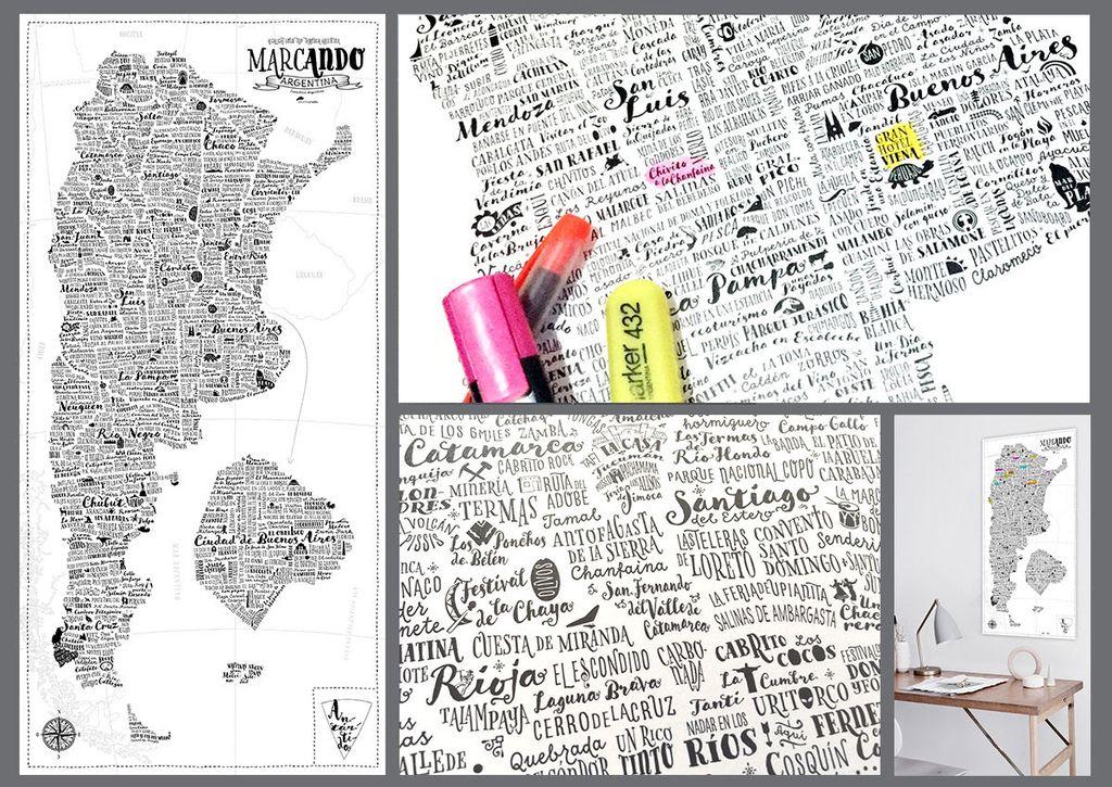 Mapa Para Marcar Viajes.Mapa Para Marcar Argentina Comprar En Me Gusto
