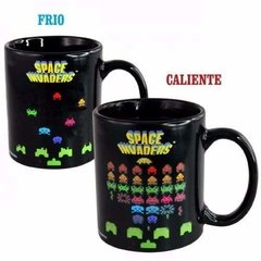 taza termosensible Space Invader