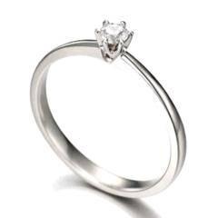 ... Solitário Garra Baixa Diamante 10 pontos ouro branco 18K (ANRJ323) c062e3553d