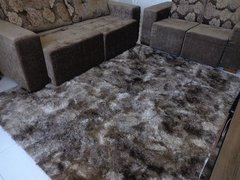 Image of SHAGGY DAPPLE LIGHT BROWN RUG 7.87 X 6.56 FEET