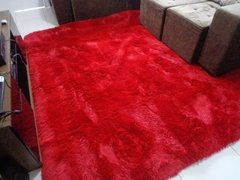 SHAGGY RED RUG 7.87 X 6.56 FEET on internet