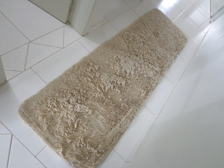 SHAGGY BEIGE TABLERUNNER 6.56 x 1.97 Feet