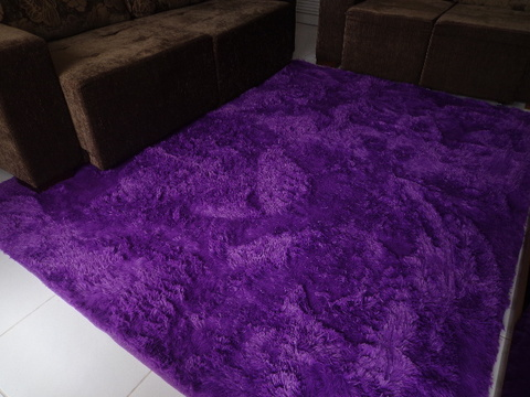 SHAGGY PURPLE RUG 7.87 X 6.56 FEET