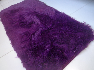 SHAGGY PURPLE TABLERUNNER 1.96 x 3.28 Feet