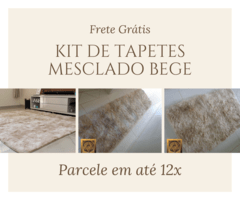 Kit de Tapetes Mesclado Bege