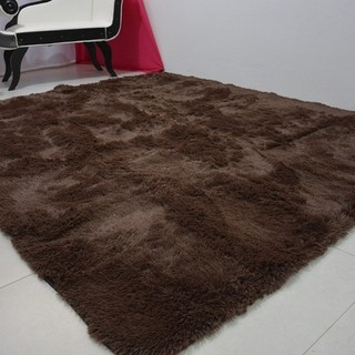 SHAGGY COFFEE BROWN RUG 3.95 x 6.23 Feet on internet