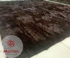 SHAGGY COFFEE BROWN RUG 4.59 x 6.23 Feet