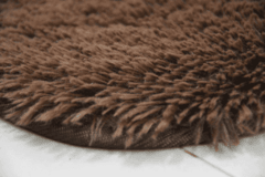SHAGGY COFFEE BROWN RUG 4.59 x 6.23 Feet on internet