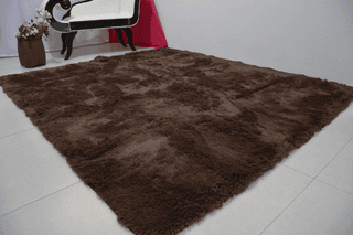 SHAGGY COFFEE BROWN RUG 7.87 X 6.56 FEET