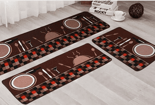 DARK KITCHEN CARPET SET