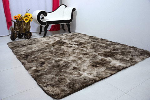 SHAGGY DAPPLE LIGHT BROWN RUG 6.56 x 9.84 Feet
