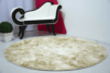 SHAGGY DAPPLE BEIGE CIRCLE  RUG 6.07 FEET IN DIAMETER