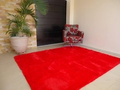 Image of SHAGGY RED RUG 7.87 X 6.56 FEET