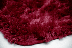 SHAGGY DAPPLE BURGUNDY RED RUG  4.59 x 6.23 Feet - buy online
