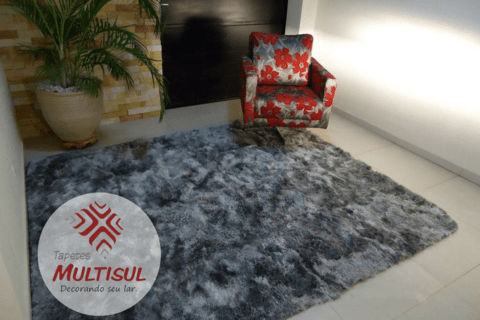 SHAGGY DAPPLE GREY RUG 7.87 X 6.56 FEET