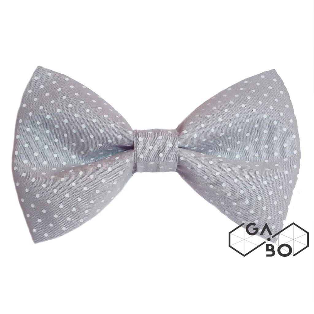 bd6df9cc1 Gravata Borboleta Petit Poa Cinza