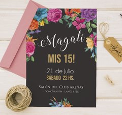 Invitacion Mexican Black