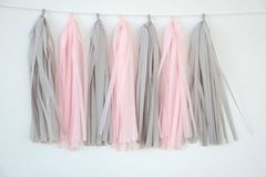 "Borlas de Papel ""Grey and Pink"""