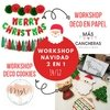 Workshop Navidad 2 en 1 | Deco Cookies & Deco en Papel