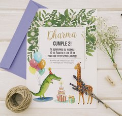 Invitacion Party Animales
