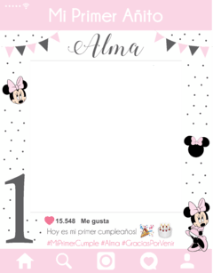 Cartel de Instagram Minnie