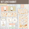 KIT IMPRIMIBLE - KIT LOVE RABBIT -