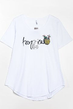 R1026/10 Syes, Remera larga Tropical, Talles Grandes