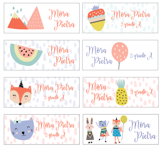 Stickers para el cole! Bosque Girl 127 un. - mutta! Vinilos Decorativos