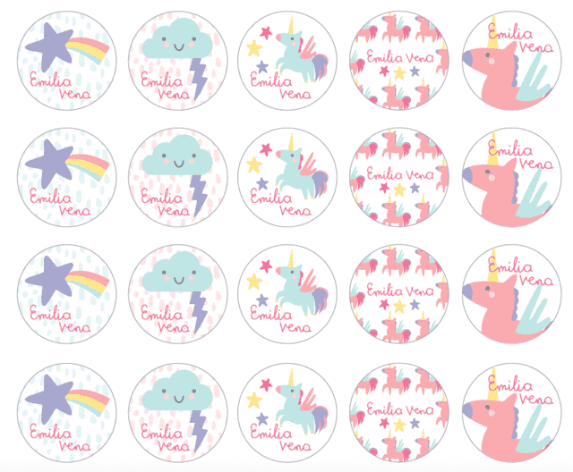 Stickers para el cole! Unicornios 127 un. en internet