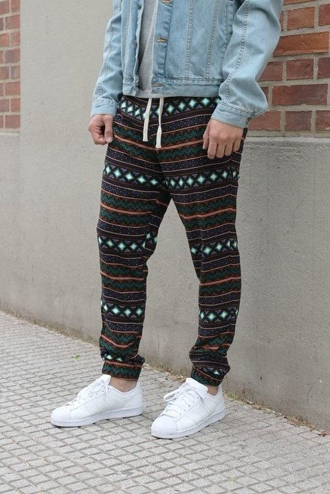 Summer pant - native american black (6 UNIDADES)