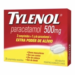 TYLENOL 500MG C 20 COMP na internet