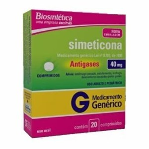 SIMETICONA 40MG C 20 COMP BIO