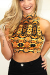 Top Cropped Gola Alta Orange Etnic REF: TT0007 - comprar online