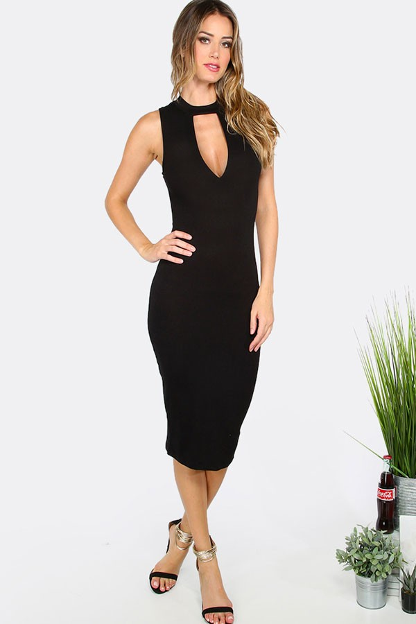 9b4df3354 Vestido Midi c Decote Festa Moda Noite REF  V0079 - comprar online