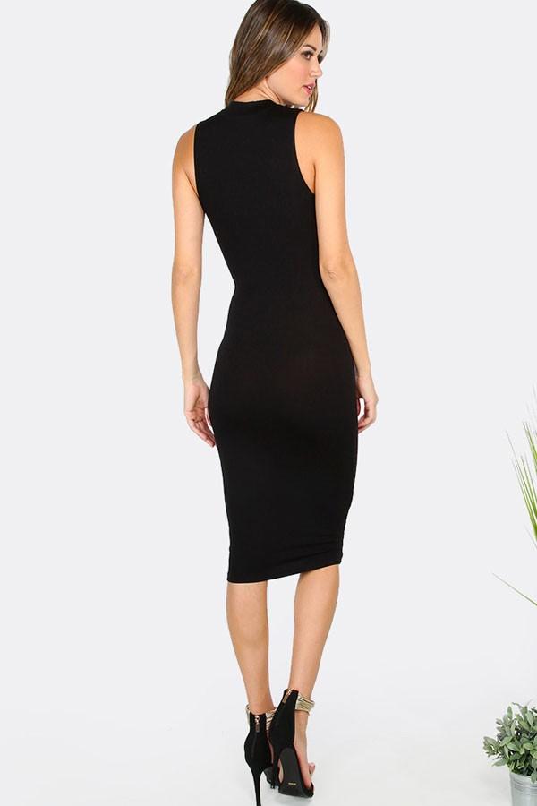 a01355311 ... comprar online Vestido Midi c Decote Festa Moda Noite REF  V0079 na  internet ...