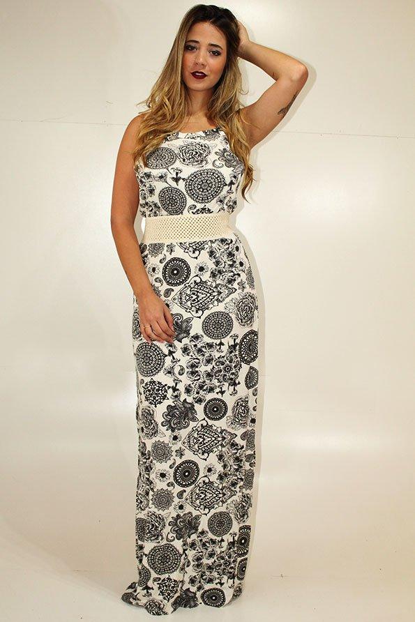 e59040bac Vestido Feminino Longo Estampado REF: LT0002 - comprar online