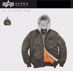 Imagen de Campera Alpha Industries Ma1 D Tec Aviadora Original